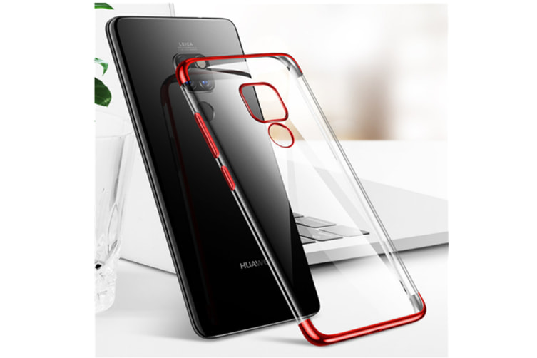 Soft Transparent Tpu Cover Ultra Thin Clear Shell For Huawei Red Huawei Enjoy8Plus