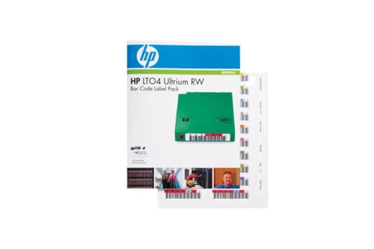 Hp Lto4 Bar Code Label Pack Quantity 100 10 Clean Uniquely Sequenced