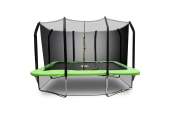 PoP Master 8FT x 11FT Rectangular Trampoline with Spring Ladder Safety Net