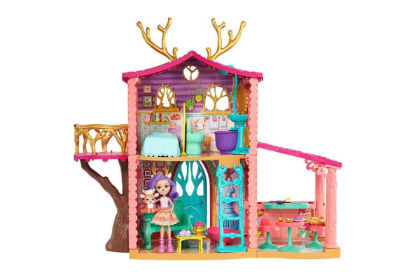 Enchantimals Cosy House Playset with Danessa Deer Doll and Sprint Figure