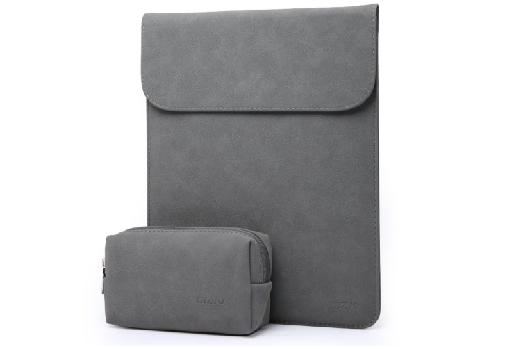 "15.6""Laptop Sleeve CaseFaux Suede Leather Notebook BagforMacBookAir/Pro with Accessories Pouch"