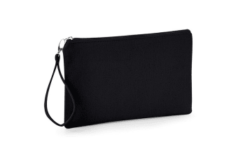 Westford Mill Canvas Wristlet Pouch (Black/Black)