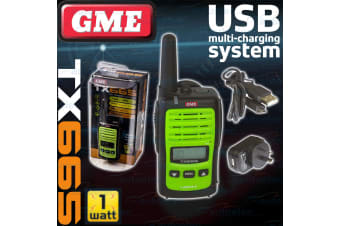GME 1 WATT TX665 80 CHANNEL HAND HELD HANDHELD UHF CB RADIO SMALL TWO WAY NEW