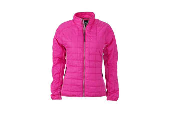 James and Nicholson Womens/Ladies Hybrid Jacket (Pink/Silver) (S)