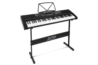 Alpha 61 Keys Electronic Piano Keyboard LED Electric Music Stand Adaptor