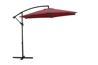 Komodo Outdoor Cantilever Umbrella (Burgundy)