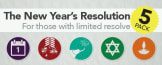The New Year's Resolution Five Pack: For those with limited resolve