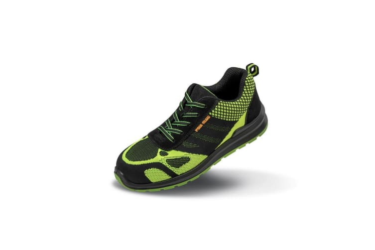 Result Work-Guard Hicks Unisex Safety Trainers (Neon Green/Black) (12 UK)