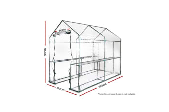 1.9x1.2x1.9M Walk In Greenhouse Replacement Shed *PVC Cover Only*