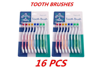 16 x Adult Kids Children's Toothbrush Tooth Brush Oral Dental Care Hygiene Teeth Care