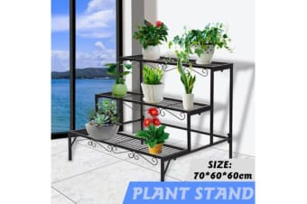 Outdoor Indoor Metal Pot Plant Stand Garden 3 Tier Planter Shelves Corner Shelf