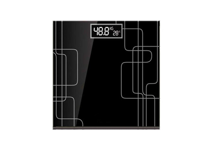 SOGA 180kg Electronic Talking Scale Weight Fitness Glass Bathroom Scale LCD Display