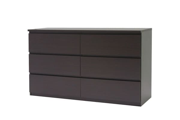 Ovela 6 Drawer Dressing Chest - Maribo Collection (Dark Brown)