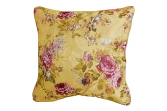 Maison Versailles Floral Design Cushion Cover (Cushion Pad Not Included) (Multicoloured)