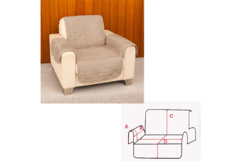 Faux Suede 1 Seater Sofa Protector Camel