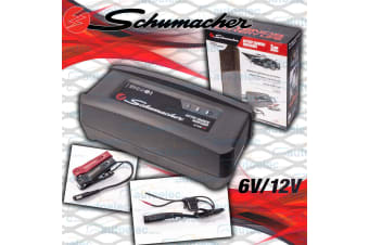 SCHUMACHER 2A AMP 6 & 12V VOLT SMART BATTERY MAINTAINER CHARGER AGM DEEP CYCLE