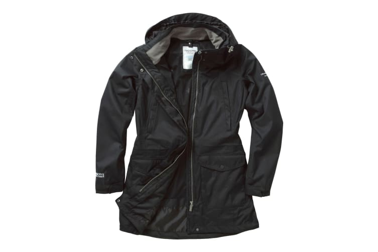 Craghoppers Womens Expert Madigan Long Jacket (Black) (10)