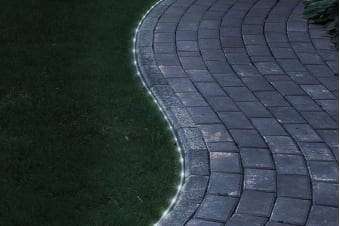 100 Solar LED Rope Light - White