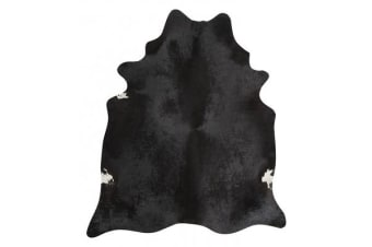 Exquisite Natural Cow Hide Black 170x180cm