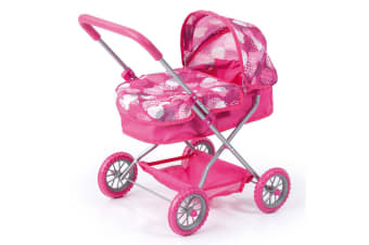 Bayer Smarty 56cm Doll Pram Stroller Kids 3y+ Parent Pretend Role Play Toys Pink
