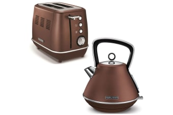 Morphy Richards Evoke Stainless Steel 2 Slice Toaster & 1.5L Kettle Bronze