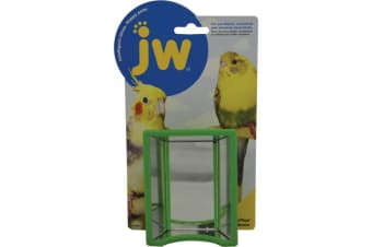 Hall of Mirrors Toy & Bird Bath for Budgies, Small Parrots by JW Insight