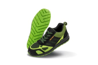 Result Work-Guard Mens Hicks Safety Trainers (Neon Green/Black) (12 UK)