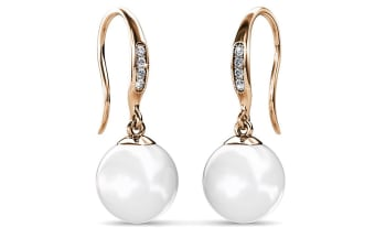 Chivalry Pearl Drop Earrings Embellished with Swarovski Crystal Pearls