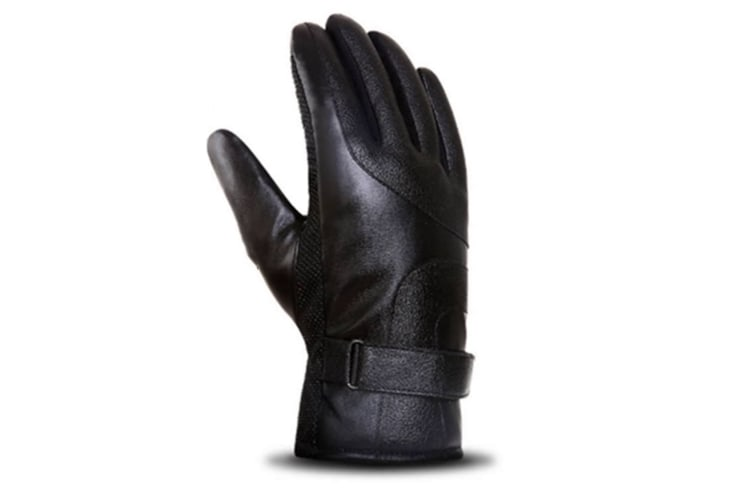 Stylish And Elegant Winter Warm Touch Screen Gloves For Men Black