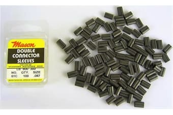 100 x Size 61 Mason Crimps - Double Connector Sleeves for Fishing Wire/Line