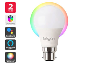 Kogan SmarterHome™ 10W Ambient Smart Bulb (B22) - Pack of 2
