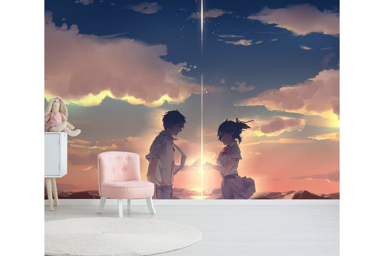 3D Your Name 077 Anime Wall Murals Woven paper (need glue), XXL 312cm x 219cm (WxH)(123''x87'')