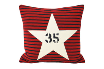 Riva Home Star Sign Cushion Cover (Red) (45x45cm)