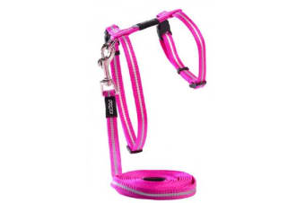 Rogz Alleycat Harness Lead Pink - S