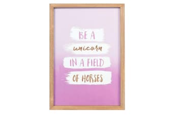 Something Different Be A Unicorn Framed Wall Art (Multicoloured) (One Size)