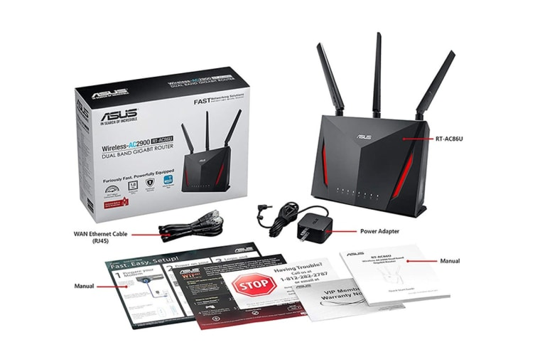 ASUS AC2900 Dual Band Gigabit WiFi Gaming Router with MU-MIMO & AiMesh (RT-AC86U)