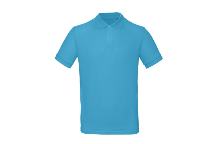 B&C Mens Inspire Polo (Very Turquoise Blue) (XL)