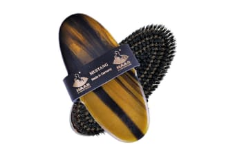 Haas Mustang Body Brush (Black/Brown) (One Size)