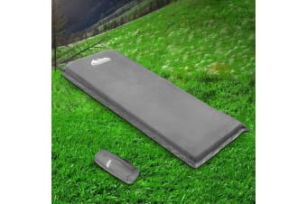 Self Inflating Mattress Camping Sleeping Mat Air Bed Pad Single Grey