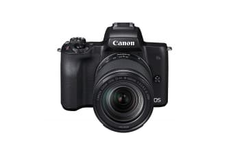 Canon EOS M50 Mirrorless Digital Camera with EF-M 18-150mm Lens - Black