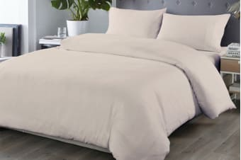 Royal Comfort Blended Bamboo Quilt Cover Set (Double, Warm Grey)