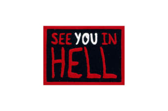 Grindstore See You In Hell Patch (Black) (One Size)