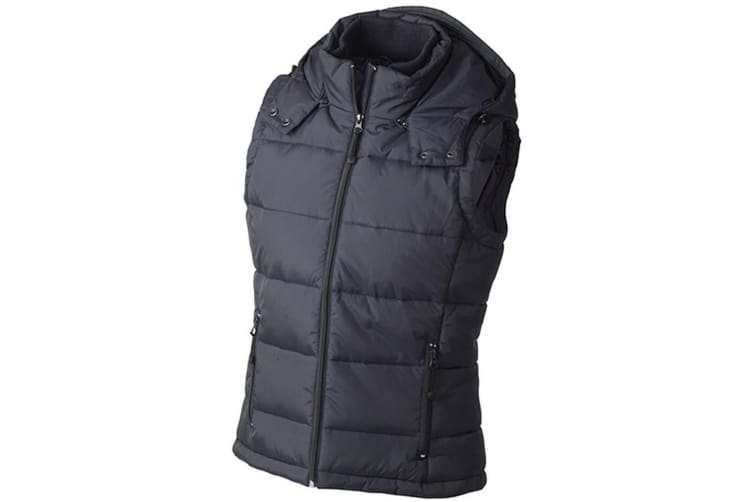 James and Nicholson Womens/Ladies Padded Vest (Navy) (S)