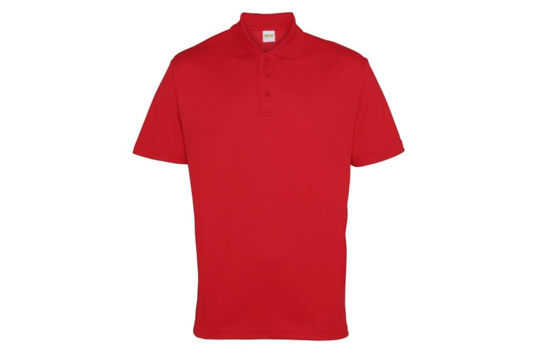 RTY Workwear Mens Short Sleeve Performance Polo Shirt (Red) (3XL)