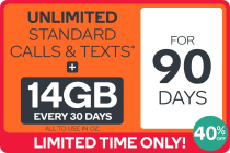 Kogan Mobile Prepaid Voucher Code: EXTRA LARGE (90 Days | 14GB Per 30 Days) - New Customers Only
