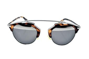 Christian Dior So Real - Palladium Havana (Grey Silver Mirror lens) Womens Sunglasses