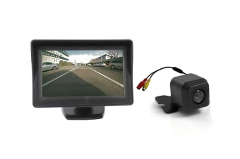 "Elinz 4.3"" Monitor + 12v Reversing Camera Kit Car Caravan LCD Rearview IR Night Vision"