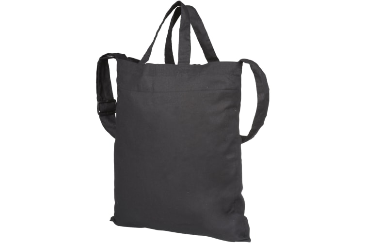 Bullet Verona Cotton Tote (Pack of 2) (Solid Black) (38 x 42 cm)