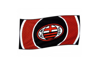 AC Milan Unisex Bullseye Flag (Multicoloured) (One Size)