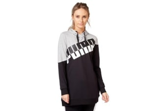 Puma Women's A.C.E. Blocked Hoodie (Light Grey Heather/Black)